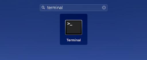 Esta imagen muestra el Launchpad en MacOs