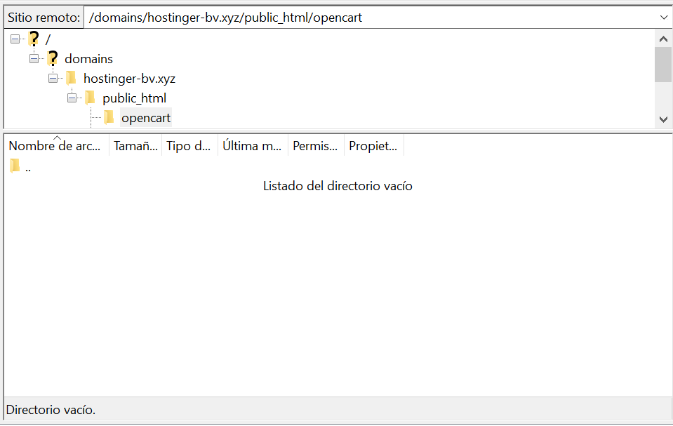 Acceder a la carpeta public_html