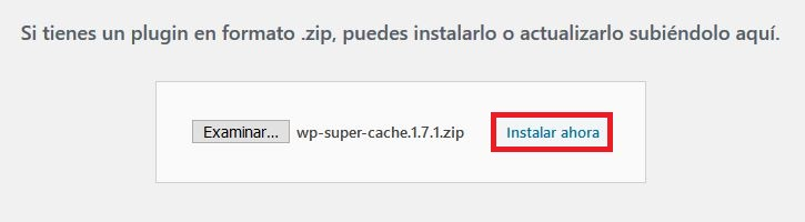 Instalar un plugin de WordPress