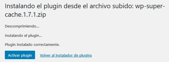 Instalar un plugin de WordPress manualmente