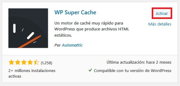 Activando plugins en WordPress
