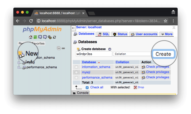 crear-base-de-datos-wordpress-usando-mamp-phpmyadmin