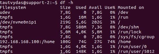 revisar espacio de disco duro en linux