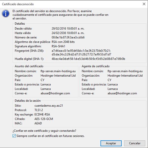 configurar filezilla