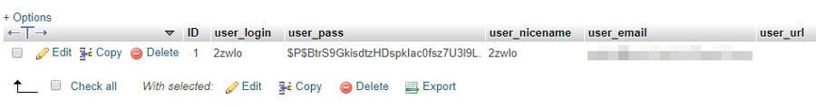 Tu información de los usuarios de WordPress.