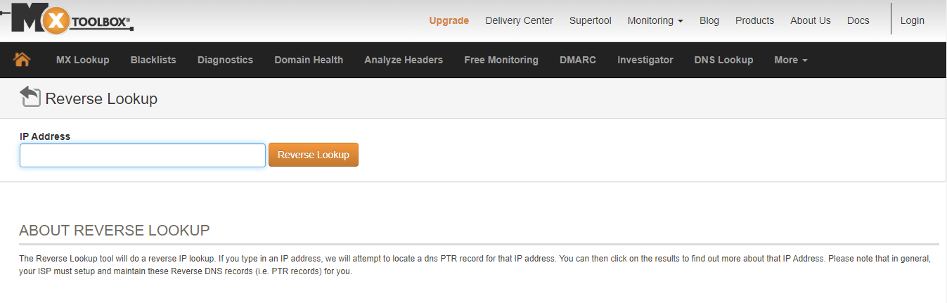 Comprueba tu registro PTR con una herramienta online