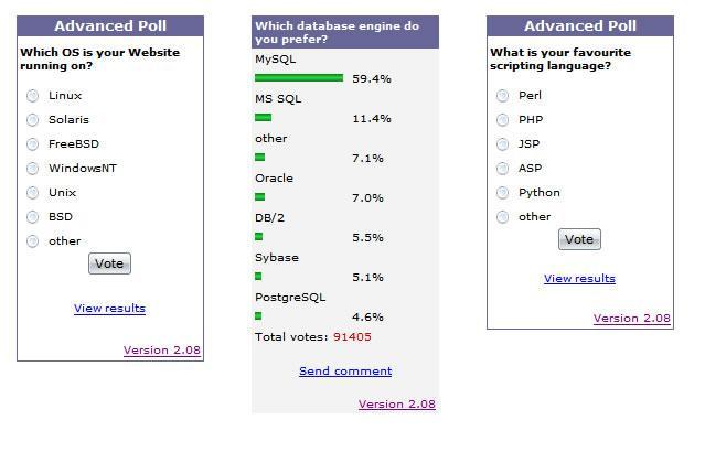 crear encuentas avanzadas en linea con advanced poll