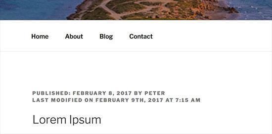 fecha de actualizacion de un post de wordpress