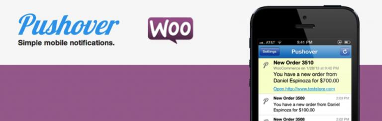 pushover woocommerce