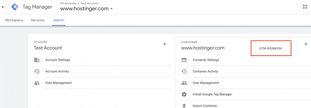 Código para el administrador de etiquetas de Google y wordpress