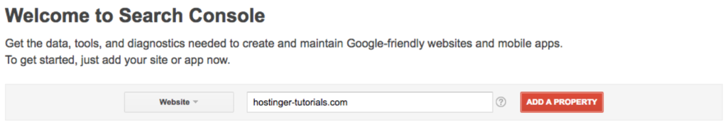 Agregar un sitio en la herramienta de Google Search Console