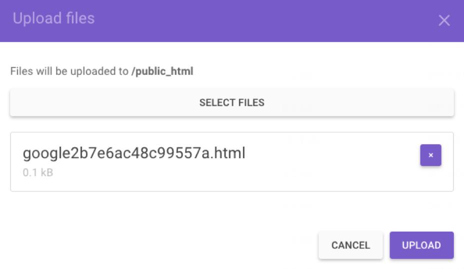 Subir documentos a la carpeta public_html usando el administrador de archivos de hosting