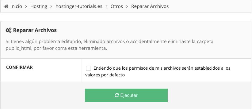 herramienta reparar archivo