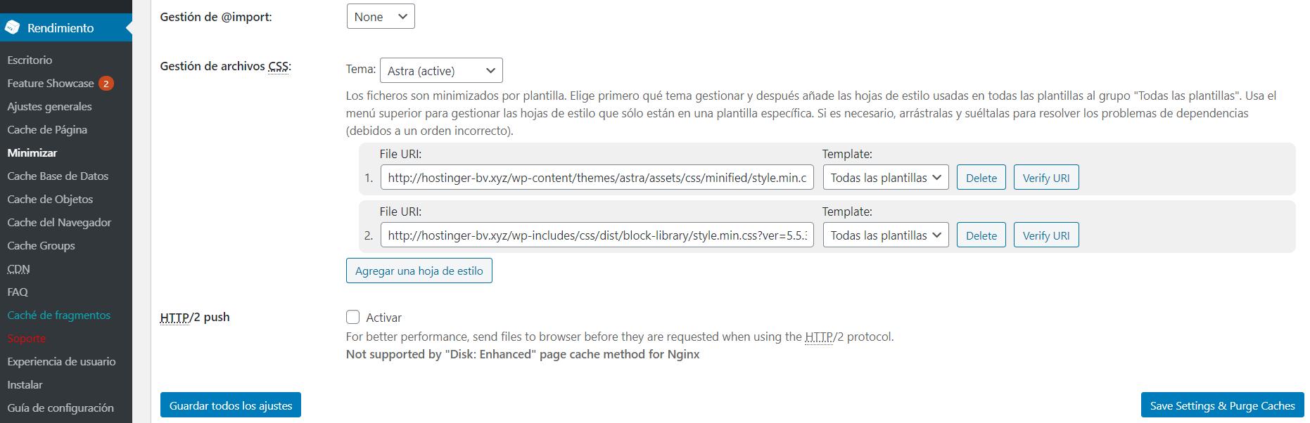 Eliminar los recursos CSS que bloquean el renderizado con el plugin W3 Total Cache