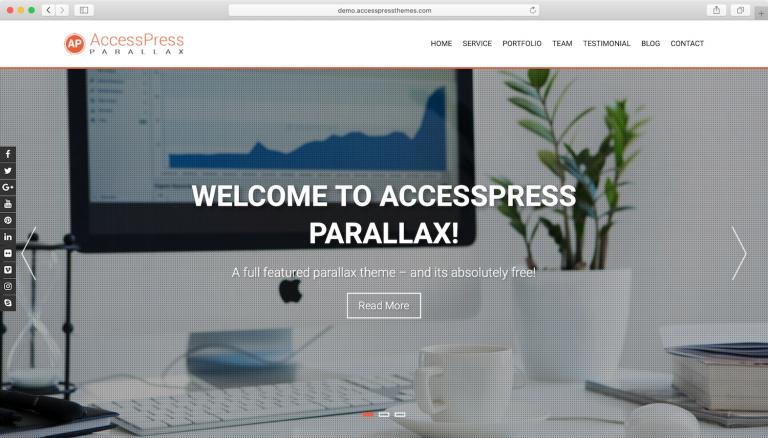 plantillas wordpress accesspress-parallax