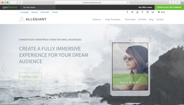 plantillas wordpress allegiant