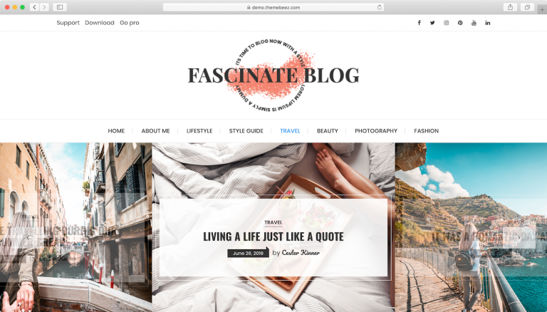 Fascinate el tema de WordPress.