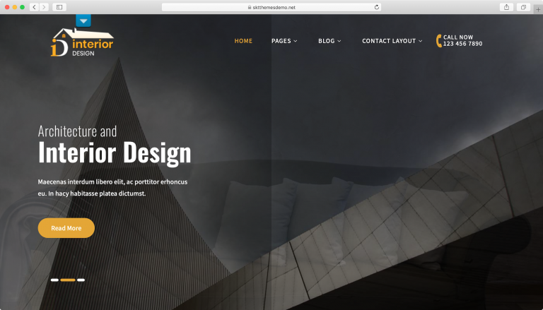 Tema Interior Lite WordPress.