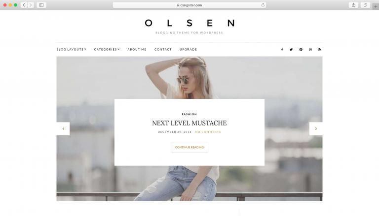 Tema Olsen Lite WordPress.