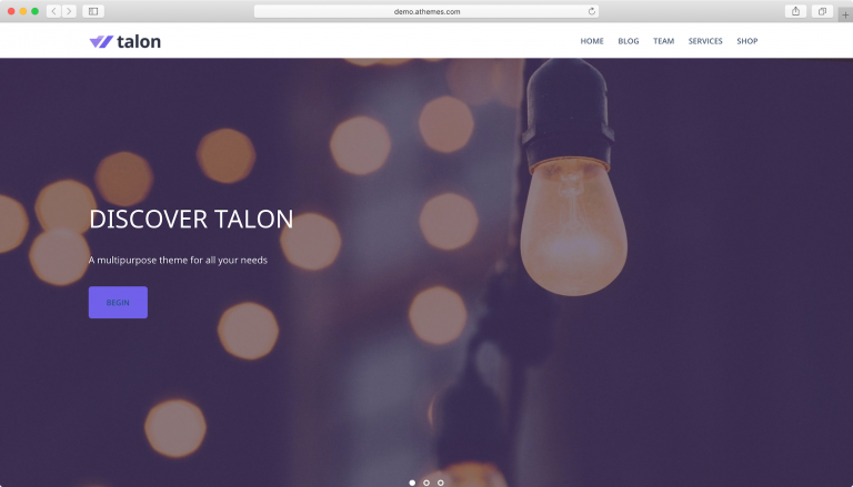 Talon WordPress tema.
