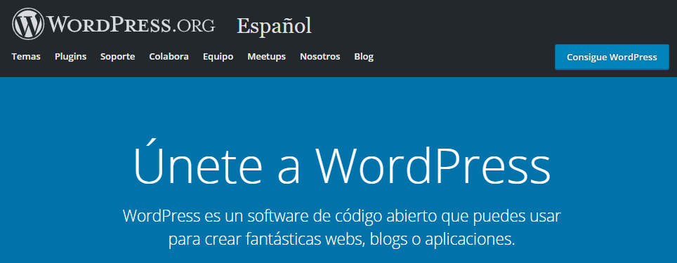 El lema de WordPress CMS