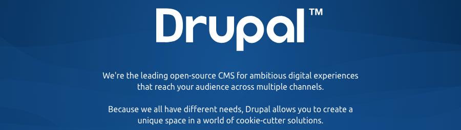 El lema de Drupal CMS