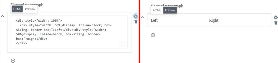 Opciones de HTML personalizado