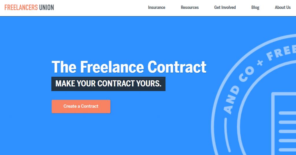 Freelancers Union genera contratos digitales profesionales altamente personalizables en un instante.