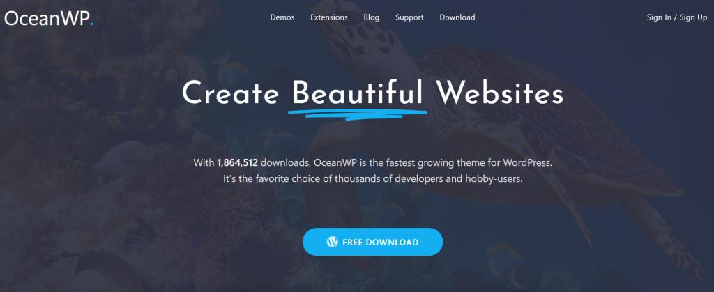 OceanWP es uno de los mejores temas de inicio de WordPress.