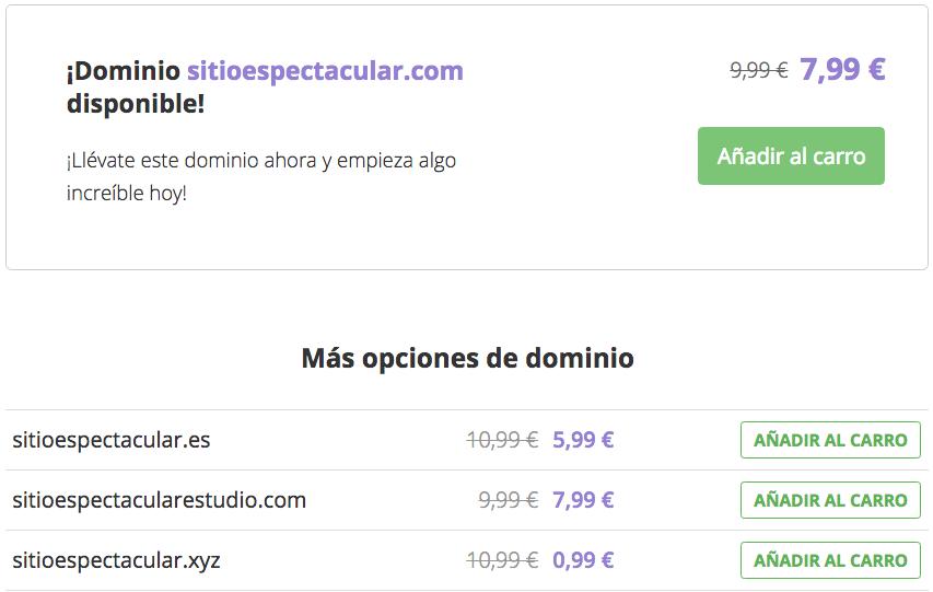 Elegir un nombre de dominio para tu blog