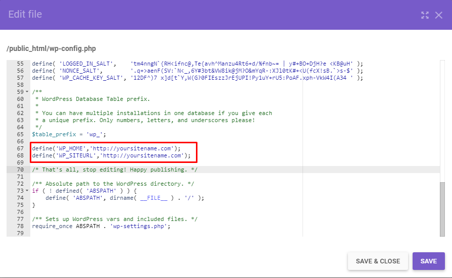 wp-config-php-file-with-the-code-snippet