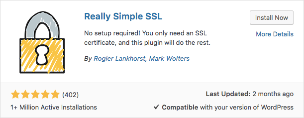 El plugin Really Simple SSL