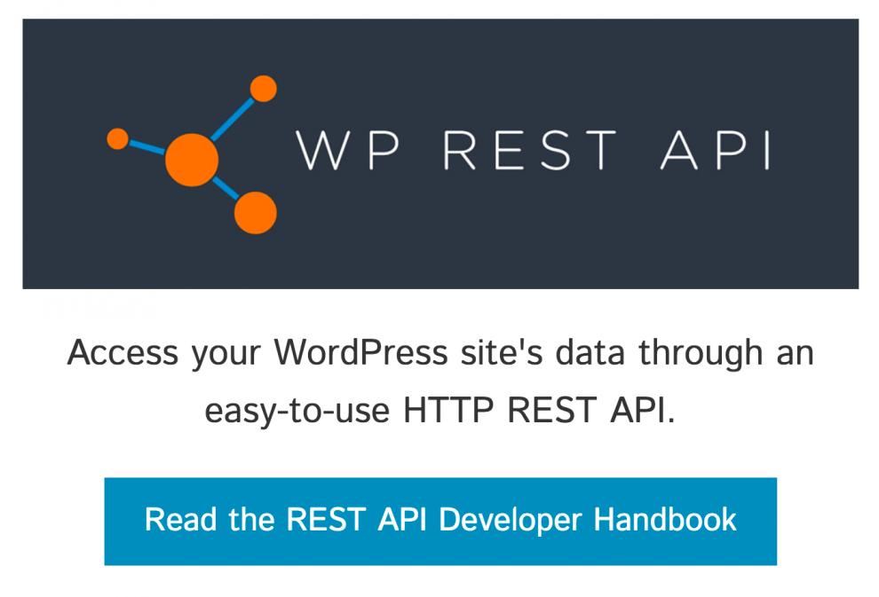 Página de inicio del proyecto WP REST API