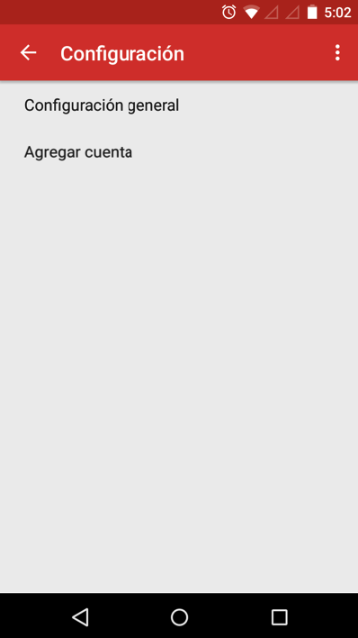 agregar cuenta email android