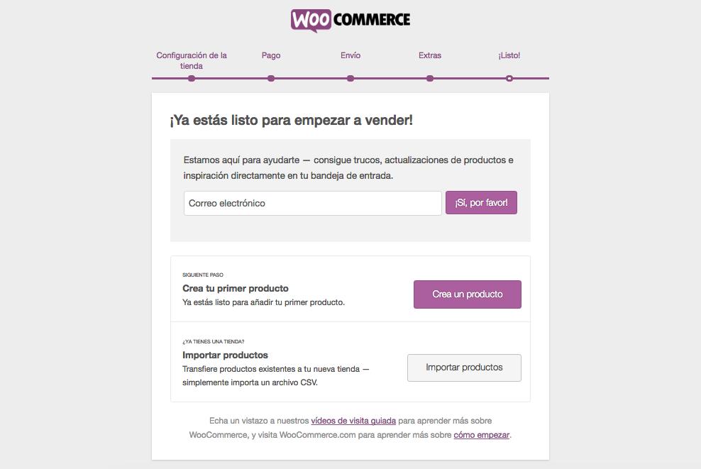 configuración de woocommerce