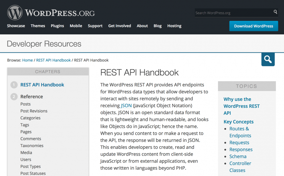 Manual de API REST de WordPress