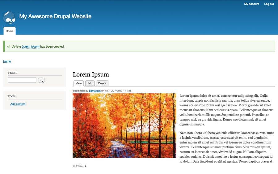 Artículo publicado Drupal