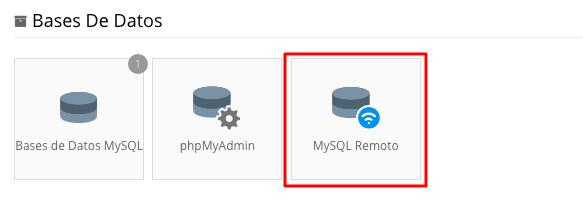 base de datos mysql remoto