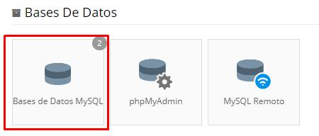 configurar conexion base de datos MySQL