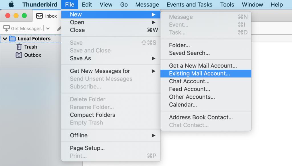 configurar correo existente