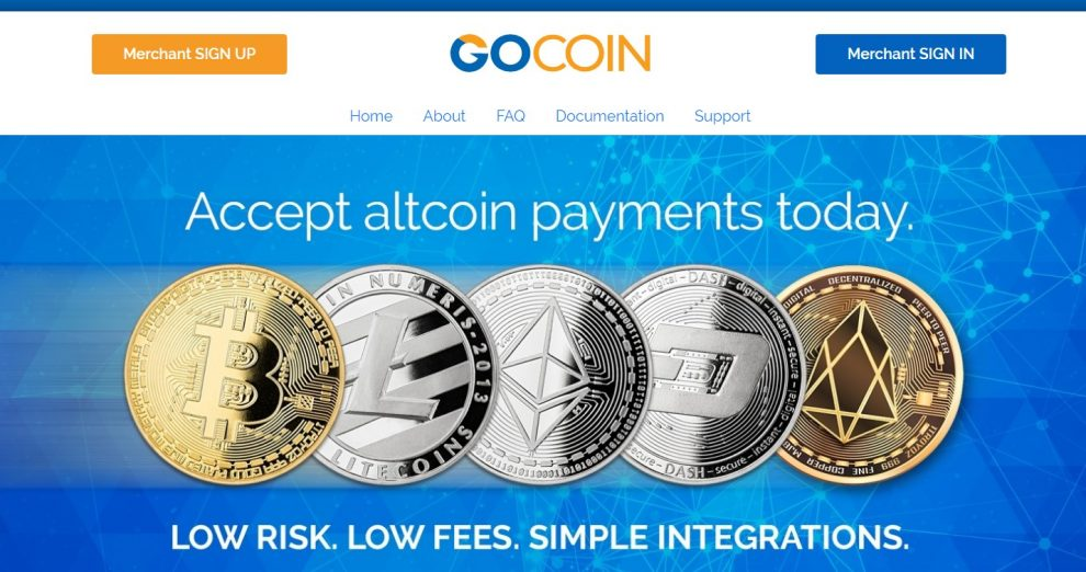 Página de inicio de Gocoin