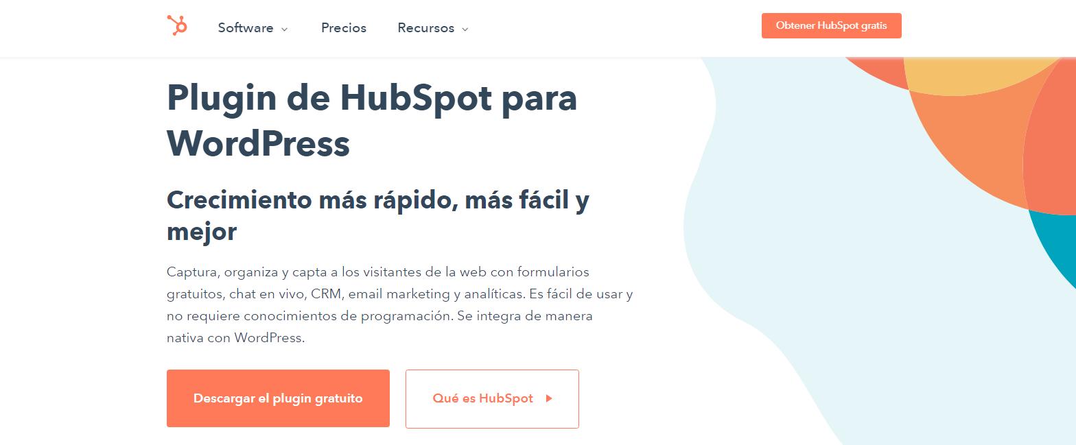 Plugin para WordPress de HubSpot