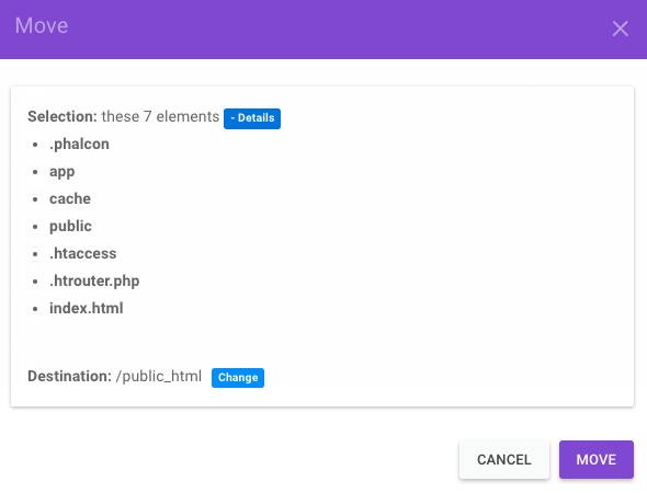 mover Phalcon a public_html