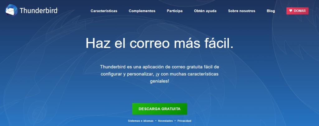 configurar thunderbird email
