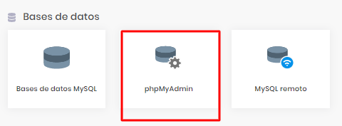 phpMyAdmin en Hostinger para verificar el estado de su base de datos