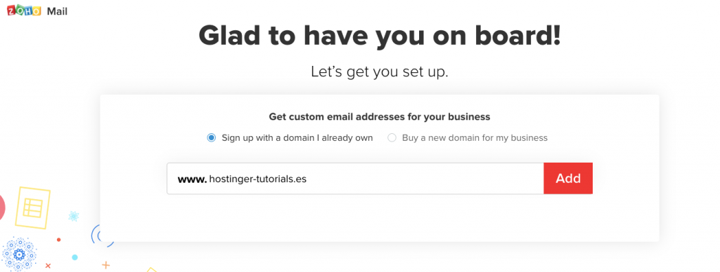registrar un dominio existente