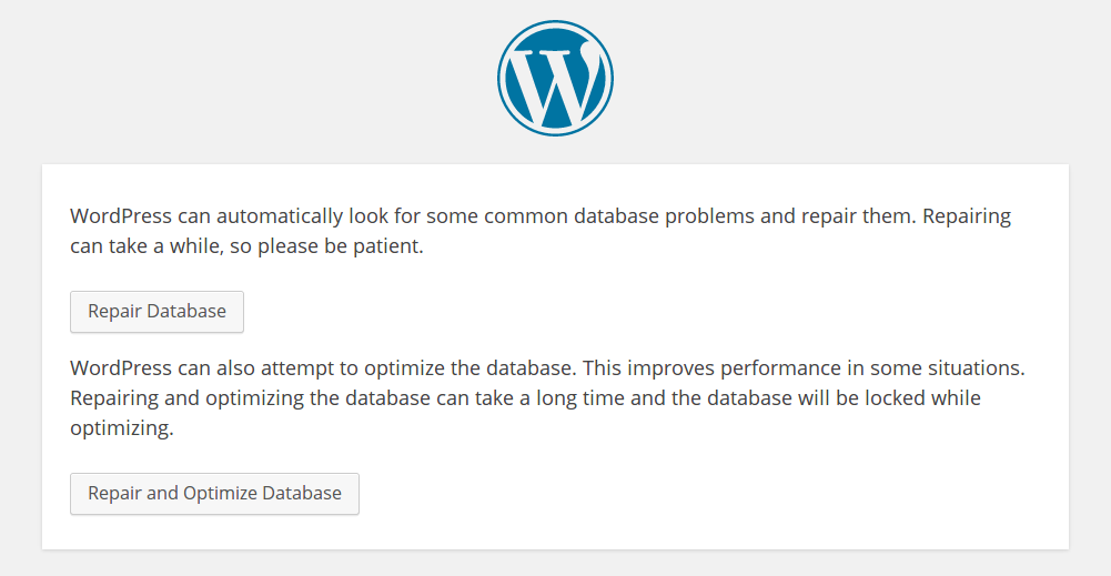 wordpress reparar base de datos