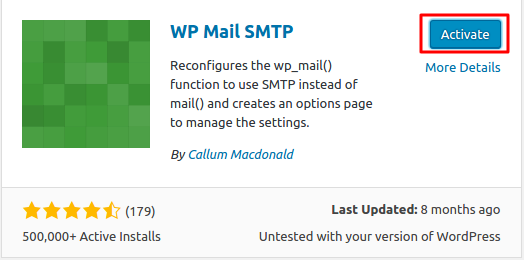 Activar el Plugin WP Mail SMTP
