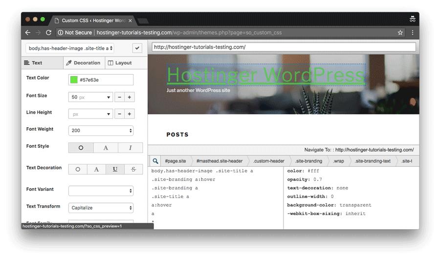 añadir css personalizado en wordpress mediante el plugin de siteorigin