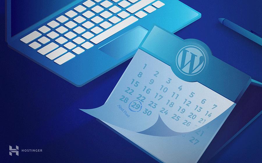 como programar entradas en wordpress